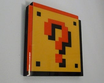 question block - super mario wall art