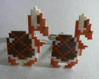 SALE player hater -super mario koopa cufflinks