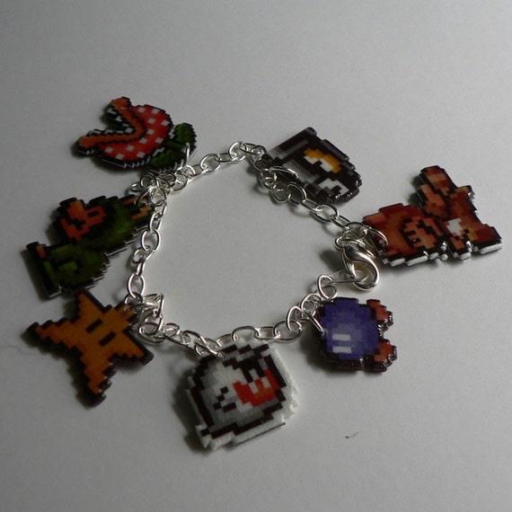 you're invincible (and adorable) - super mario 3 charm bracelet