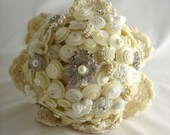 The Tea and Lace Wedding Button Bouquet