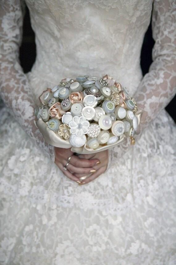Button Bridal Bouquet Etsy : Items similar to the golden deluxe elegance button bouquet