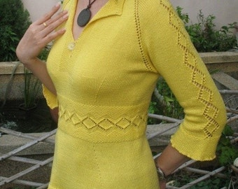 Sunshine Top Knit Pattern in PDF