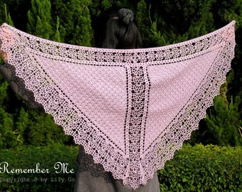 Remember Me Crocheted Shawl in PDF File