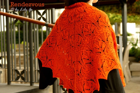 Rendezvous Knitting Shawl Pattern in PDF