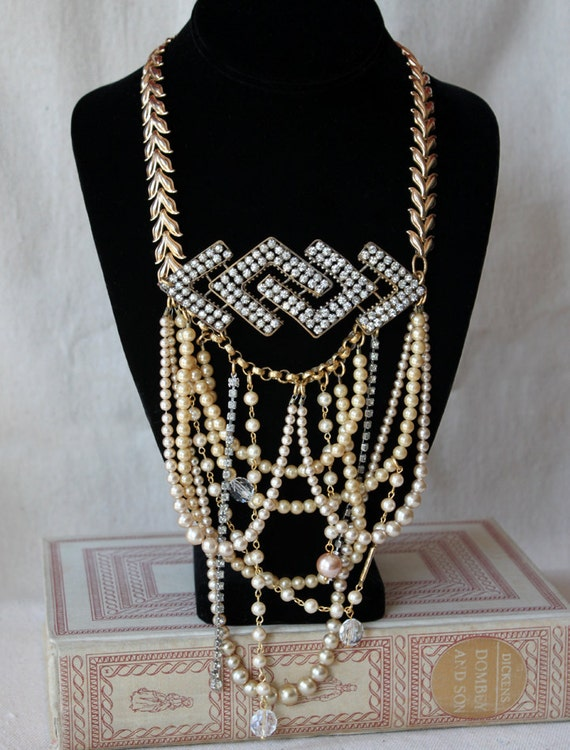 Art Deco Pearl Necklace - RESERVED for Christine