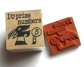 I heart Prime Numbers -- rubber stamp
