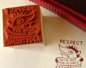 Respect Apostrophes -- rubber stamp