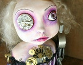 Reserved 1st half down for Nancy- Steampunk Souls Mixed Media Art Doll Charlotte