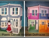 Victorian Dollhouse for fashion dolls, pdf patterns