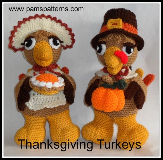 PDF Thanksgiving Turkeys Crochet Patterns