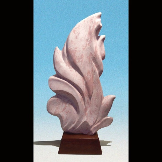 Acanthus, Freeform, Contemporary stone sculpture, carving, hand carved by Joni Hamari