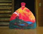 DIY Tea Cozy, Toaster Cozy, - Holidy Gift - Felting Lessons - Pdf Instructions - Download Instantly