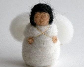 Needle felted Angels - Felt Baby Angel - Tree Ornament -- Handwork Studio