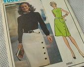 Womens Vintage 1970s Womens Molyneux Dress Vogue 2692 Sewing Pattern Size 14 Bust 36