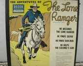 Vintage The Lone Ranger Record Set - 1951 - 4 Record Set