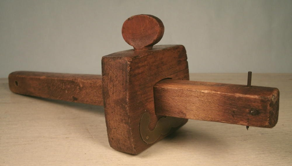 antique wood carpenters scribe tool woodworking