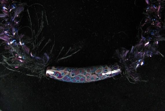 Necklace Lampwork Glass Purple Passion  SRA
