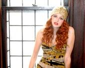 Knit Turban - Gold Velvet