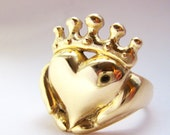 Solid Gold or Platinum Claddagh Ring - Handmade Irish Jewelry - White Yellow Rose Gold or Platinum - Choose size - Gifts - Rickson Jewellery