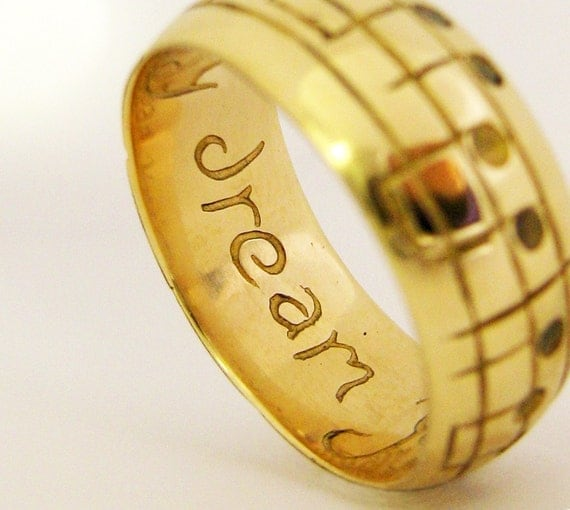 Your Gold Song Ring - Solid 10K Gold Custom Handmade Jewellery - Men's size available - International Shipping - Rickson Design -