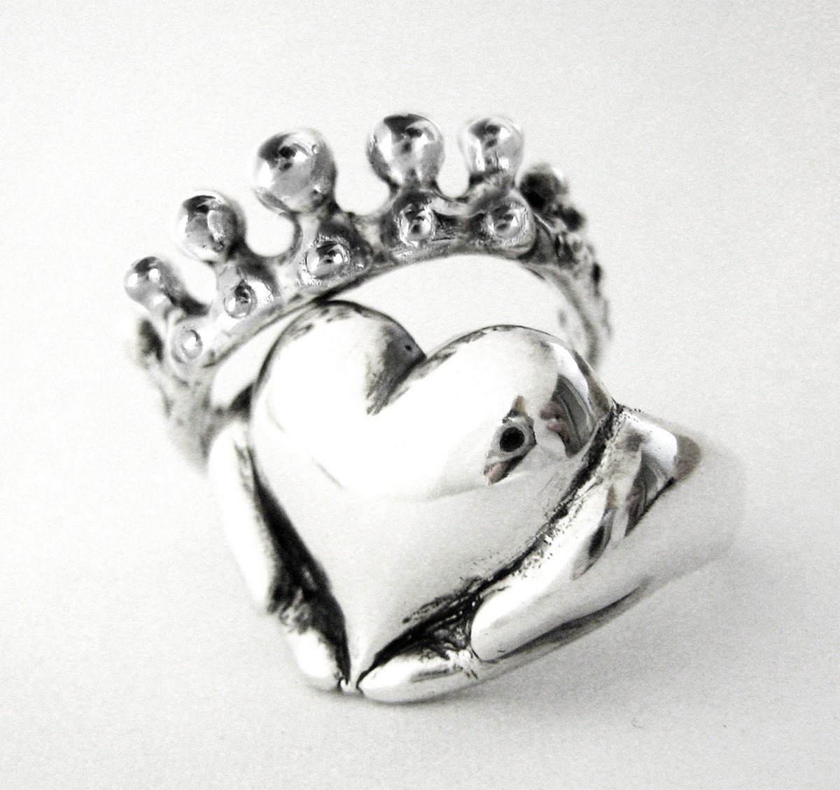 rockabilly claddagh wedding set new claddagh wedding bands Claddagh Stacking Rings Alternative Stacking Engagement Ring Non Traditional Wedding Ring Set for her Celtic Irsih Promise Ring 67 81b