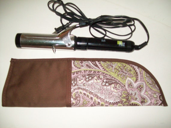 PRIVATE LISTING for CORYNN,Pink...Brown..Paisley..Curling iron case...Bag...Insulated....Pocket....Travel