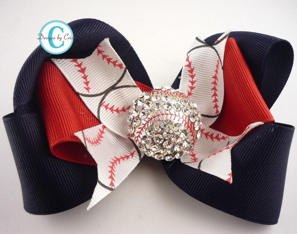 baseball designs in hair baseball hair bow custom design