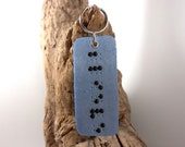 Rectangle Braille Keychain - Personalized Keychain with Up to 6 Letter Name or Word - Made to Order - Handmade