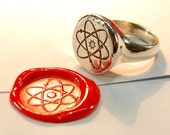 Atom Ring - silver RESERVED