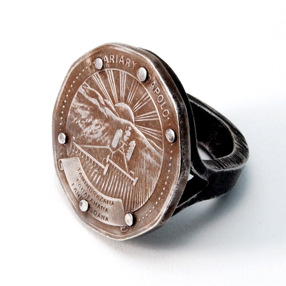 Arable Ring - RESERVED for Sonia - iron, coin