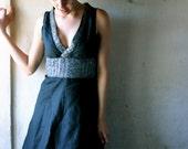 Midnight Linen Dress -sale