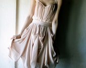 Apricot chiffon party Dress