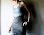 Jersey tunic dress - sleeveless mini tshrit dress - cotton shift party dress medieval style