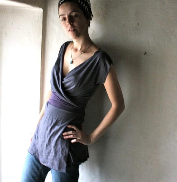 purple wrap tshirt dress