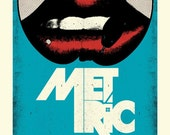 SALE - SOLD OUT - Metric - Handprinted Silkscreen Poster - Limited Edition