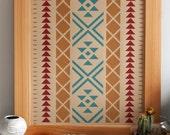 Native Inspired Pattern Art Print - 16 x 20 - Recycled Brown Kraft Paper - Hero Design Studio
