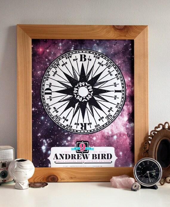 Andrew Bird - Limited Edition Hand Printed Silkscreen Concert Poster - Hero Design Studio