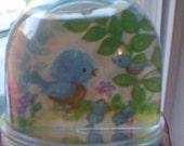 Blue Bird Snow Globe