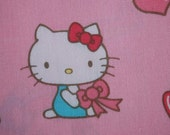 Hello Kitty and Lipstick heart necklace mirror\/cute Japanese-style fabric