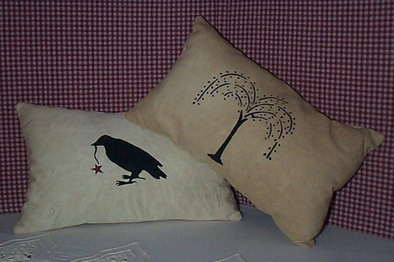 Willow and Crow Pillow