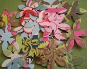 Amy Butler Patterned Six Petaled Flowers-Set of 40