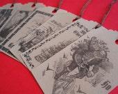 Primitive Vintage Christmas Gift Tags\/Hang Tags-Set of 6