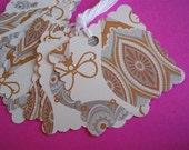 Christmas Lights Scalloped Gift\/Hang Tags-Set of 8