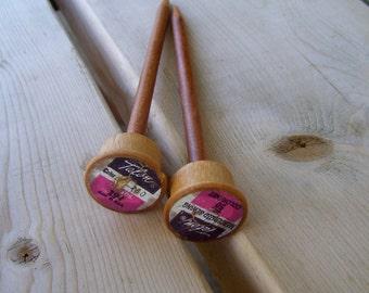 Knitting Needles Cherry Size 10.5 - Wood Spool