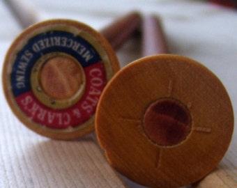 Cherry Knitting Needles - Size 13 -Wood Spool
