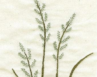 Grass Stitchery - embroidery pattern