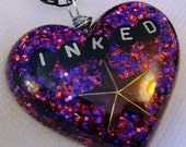 Inked - Tattoo Glitter Resin Necklace