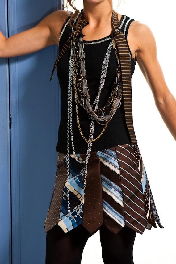 Glamarita attache-moi Tie Me Down Ultra cravate Mini jupe en bleu et marron taille toutes les tailles disponibles
