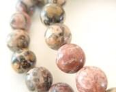 Pink Leopard Jasper Choker Necklace
