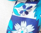 Turquoise Boho Vintage Silk Scarf